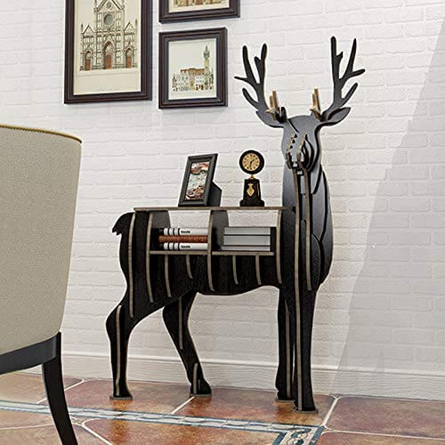 DEER WOOD SHELVES LIVING ROOM FURNITURE