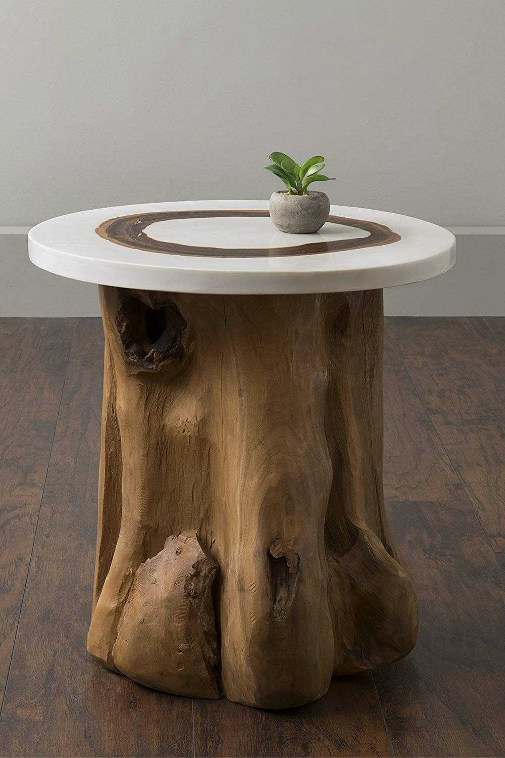 NATURAL ROUND WOODEN TABLE FURNITURE FOR LIVING ROOM