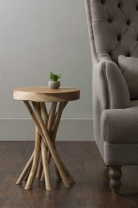 ROUND TWISTED WOODEN TABLE FOR LIVING ROOM
