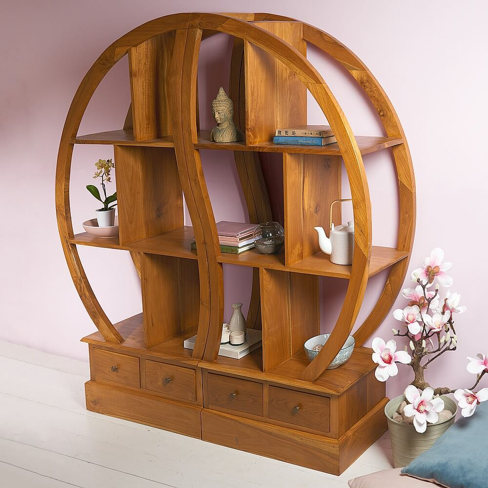 WOODEN FURNITURE FOR LIVING ROOM DISPLAY UNIT