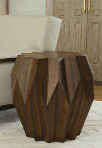 WOODEN ORIGAMI TABLE FOR UNIQUE LIVING ROOM DECORATION