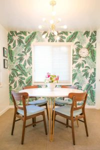 WOODEN ROUND DINING TABLE SETS WITH HAIRPIN LEGS