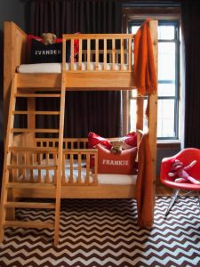 CONSIDER BEDROOM WOODEN FURNITURE WITH BUNK BED FOR SMALL SPACE
