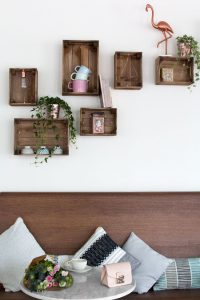 DIY WOOD CRATE SHELVES IDEAS