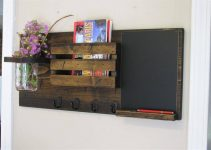 MASON JAR SHELVES ORGANIZER WEATHERED WOOD DECORATING IDEAS