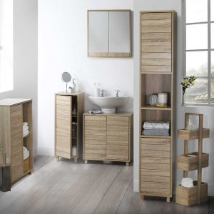 NICE WOODEN MATERIAL FOR BATHROOM FURNITURE IDEAS