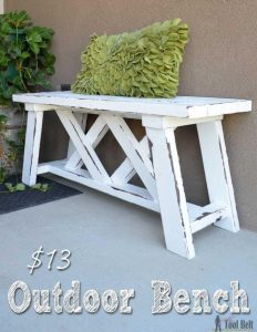 OUTDOOR BENCH WOOD FURNITURE IDEAS