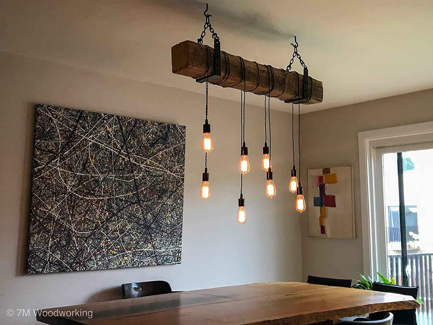 PENDANT LIGHTING RECLAIMED WOOD DECORATING IDEAS
