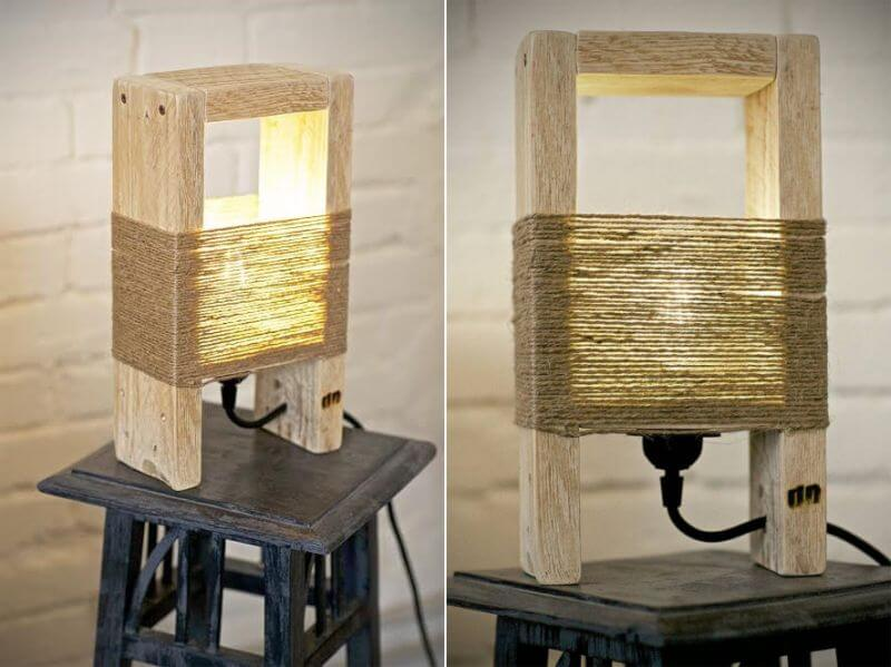 RECLAIMED WOOD LAMP DECORATING IDEAS