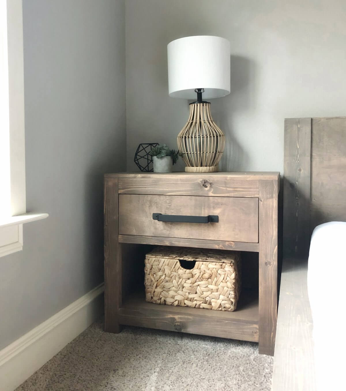RECLAIMED WOOD PROJECT IDEAS DIY MODERN DESIGN FARMHOUSE NIGHTSTAND