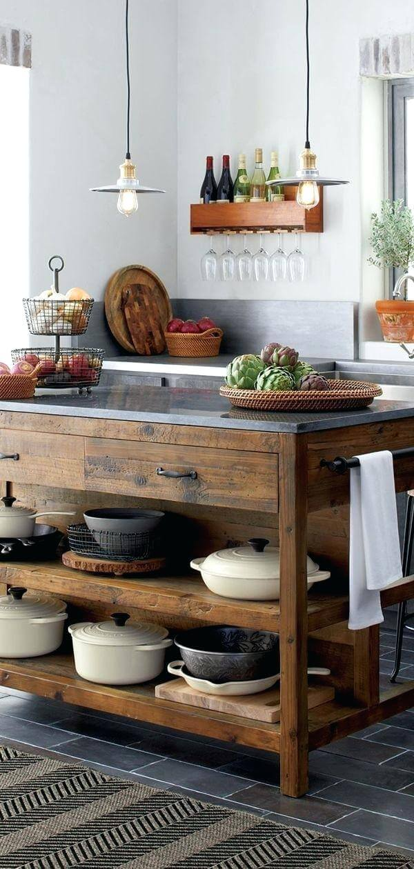RECLAIMED WOODEN KITCHEN ISLAND VINTAGE DESIGN IDEAS