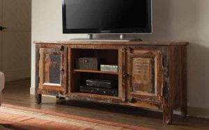 TV STAND RECLAIMED WOOD DECORATING IDEAS