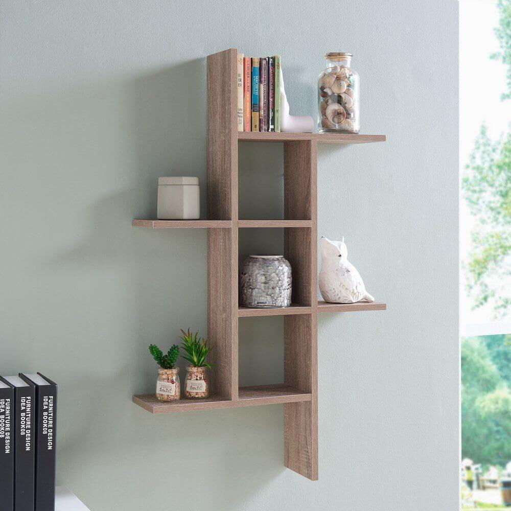 WEATHERED WOOD DECOR IDEAS WITH WALL SHELVES