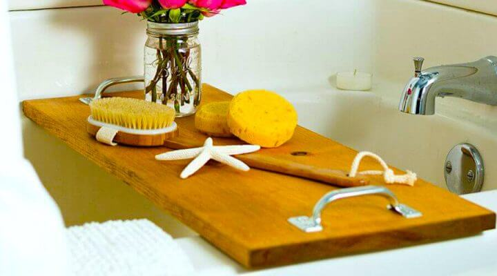 BATH CADDY DIY WOOD PROJECT IDEAS FOR BEGINNER