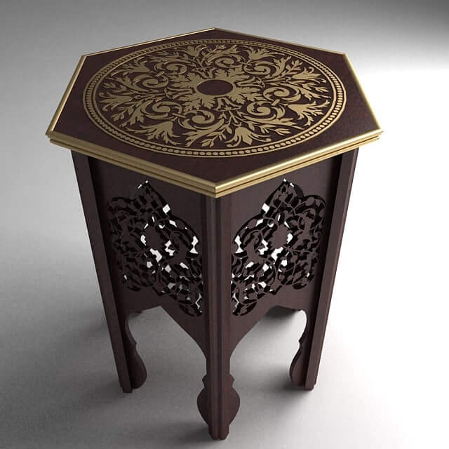 CARVED SIDES WOODEN END TABLES DESIGN IDEAS