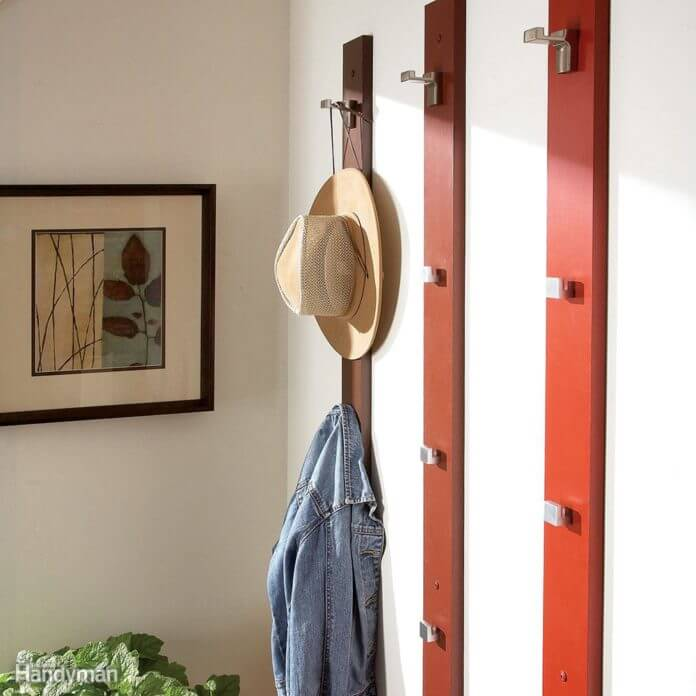 DIY COAT RACK WOOD PROJECT IDEAS FOR BEGINNER