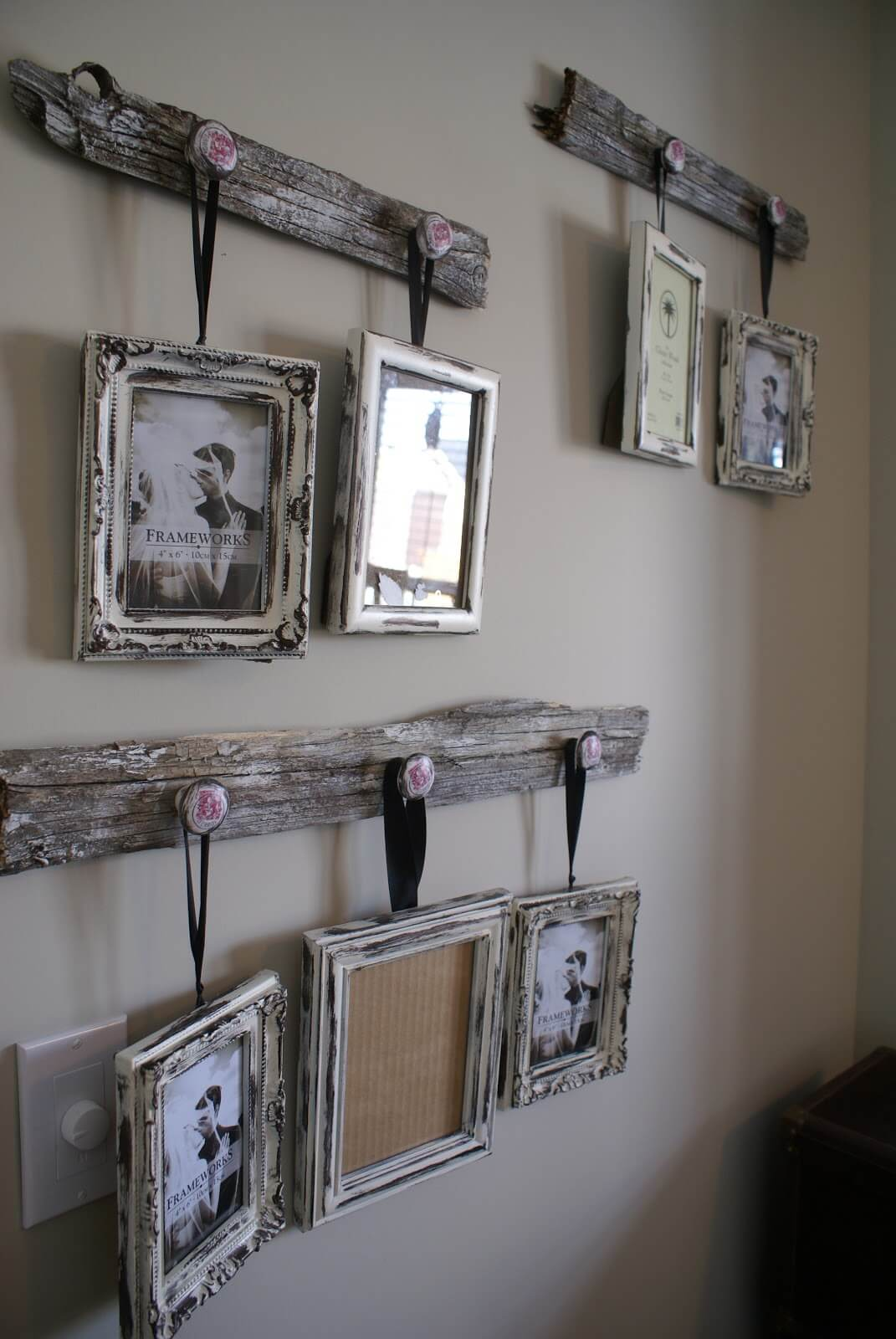 RECLAIMED WOOD FRAME RUSTIC WALL DECOR IDEAS