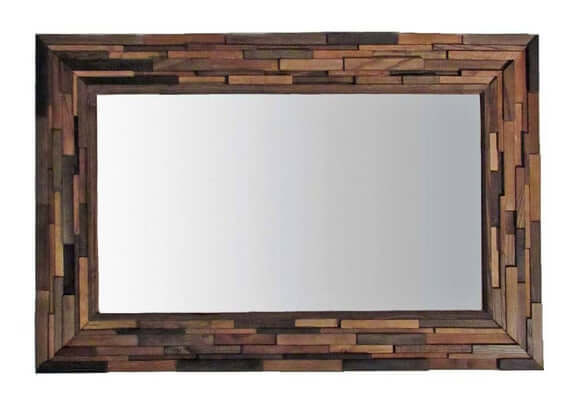RUSTIC MIRROR WOOD WALL DECOR IDEAS