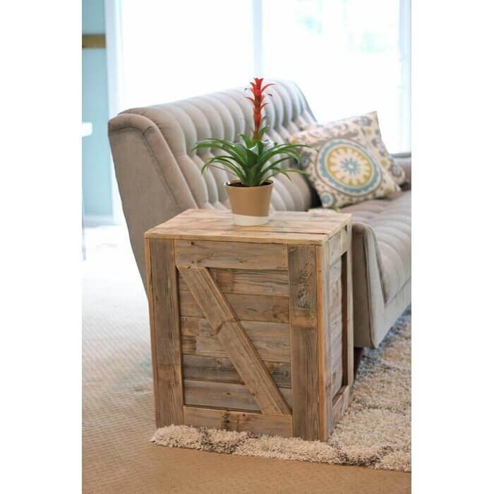 UNIQUE MENENDEZ WOOD CRATE END TABLE DESIGN IDEAS