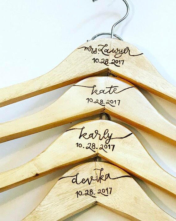 CLOTHES HANGER WITH WOOD BURNING IDEAS