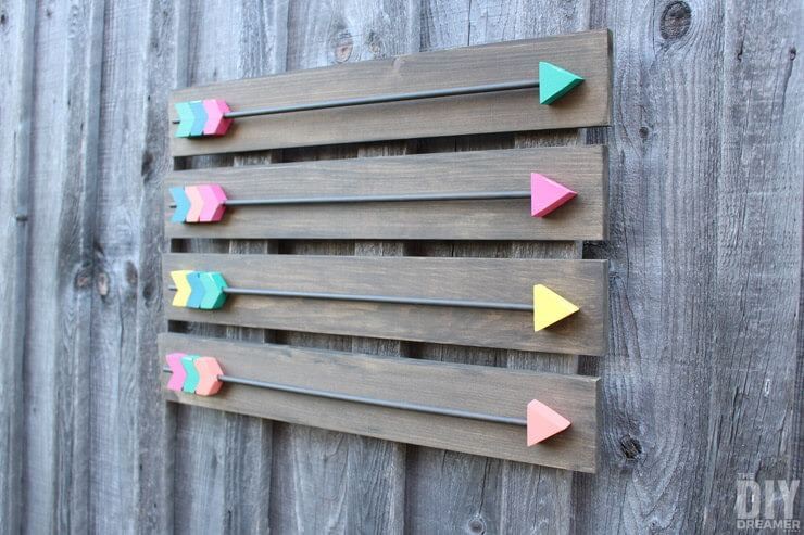 DIY WOOD ARROWS WALL ART IDEAS