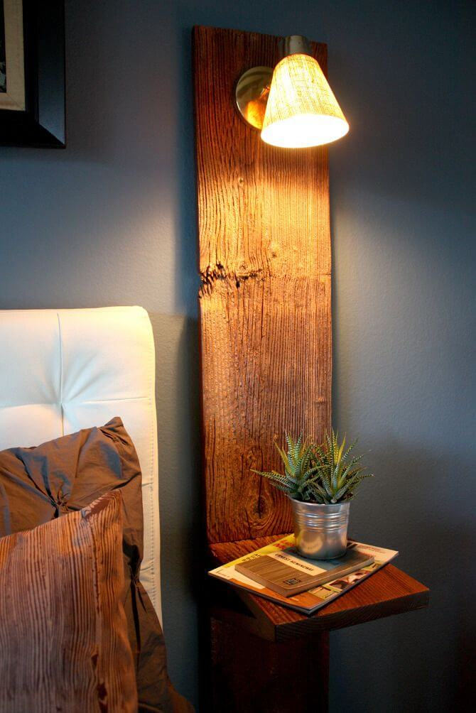 DIY WOOD SIDE TABLE AND LAMP STAND IDEAS