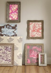 FABRIC IN WOOD FRAME FOR WALL ART IDEAS