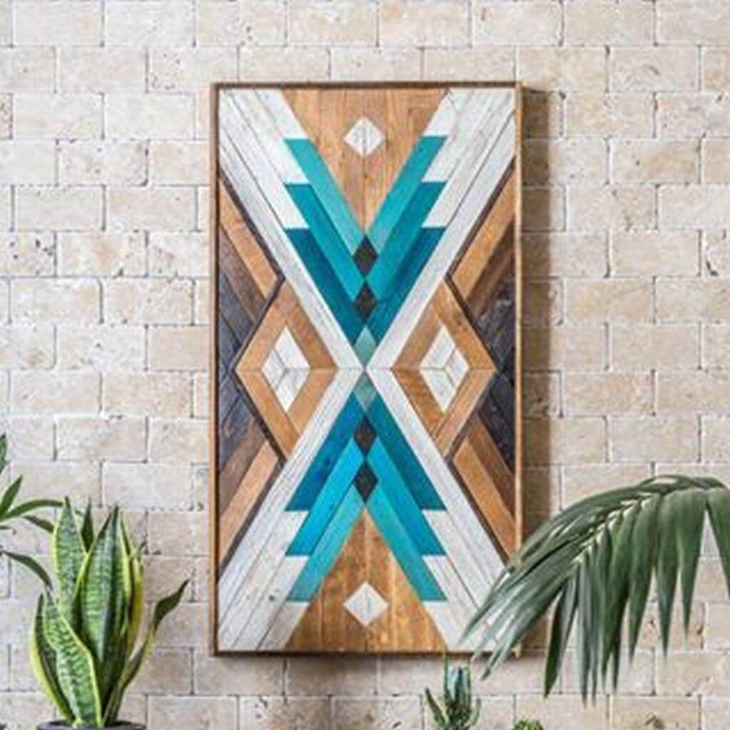 GEOMETRIC WOOD WALL ART DESIGN IDEAS