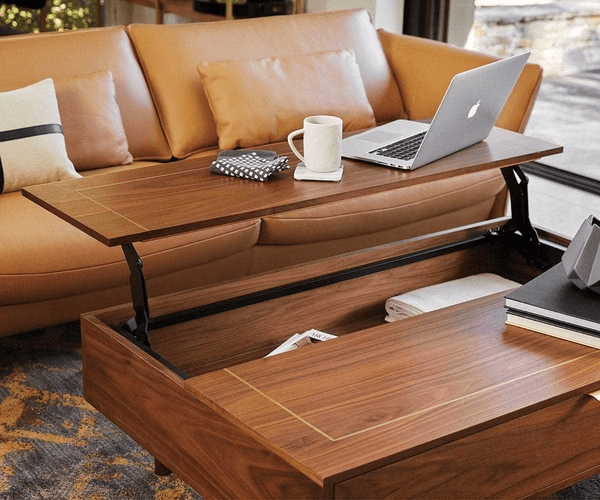 KALLAN LIFT TOP STORAGE WOOD WALNUT COFFEE TABLE IDEAS