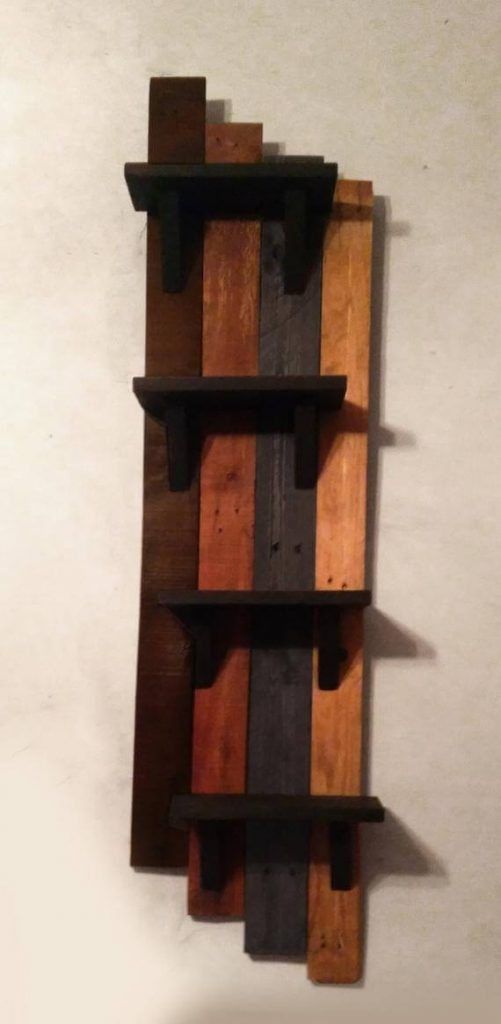 RUSTIC WALL SHELVES SOLID WOOD FURNITURE IDEAS