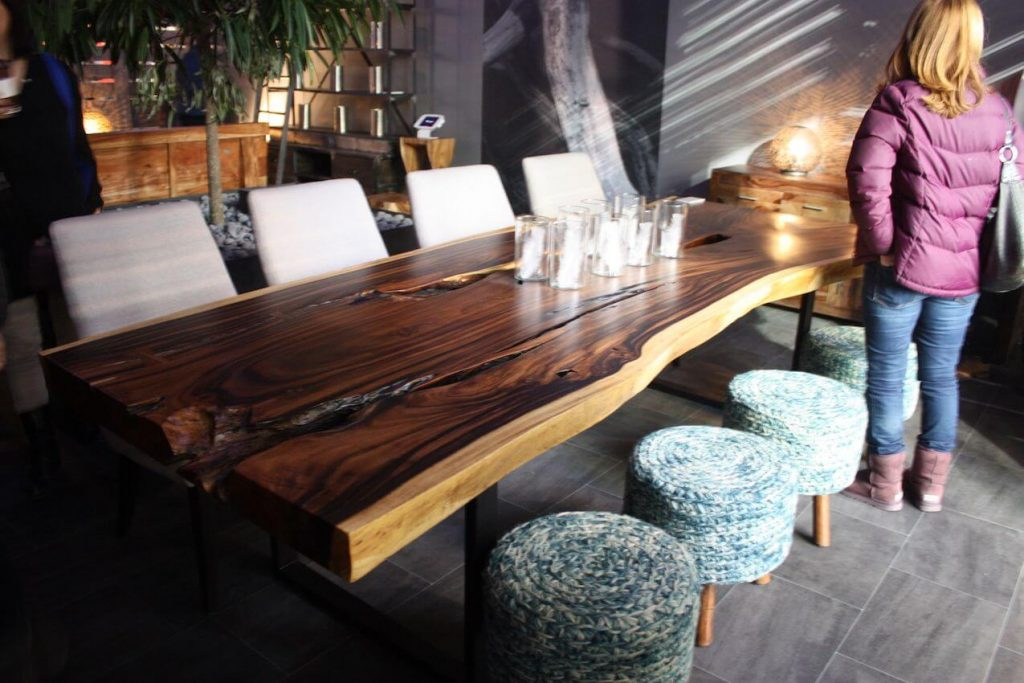 SOLID WOOD DINING TABLE FURNITURE DESIGN IDEAS
