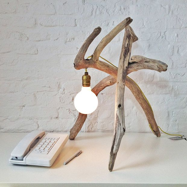 THE TWIGS AND BRANCHES WOOD LAMP DESIGN IDEAS DIY