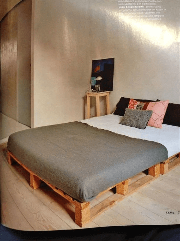 TIDY PLATFORM PALLET BED FRAME DESIGN IDEAS DIY