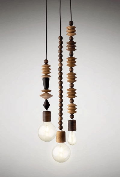 WOOD BEADS PENDANT LAMPS DESIGN IDEAS