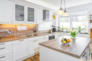 WOOD FARMHOUSE KITCHEN COUNTERTOP BUTCHER BLOCK
