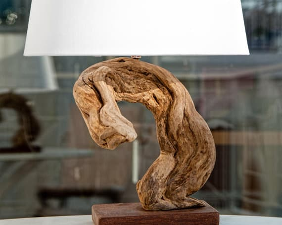 WOOD SCULPTURAL STAND LAMP DESIGN IDEAS DIY