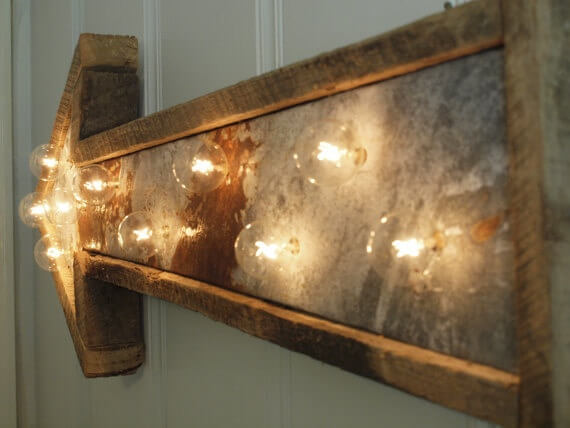 WOODEN ARROW LAMP INSTALLATION IDEAS