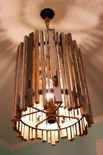 WOODEN FILTER LAMP DECOR IDEAS DIY