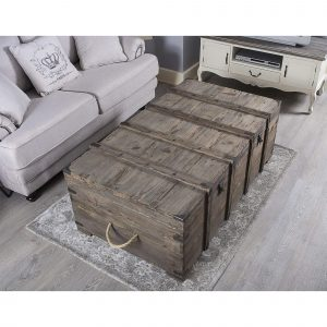 WOODEN TRUNK COFFEE TABLE DESIGN IDEAS