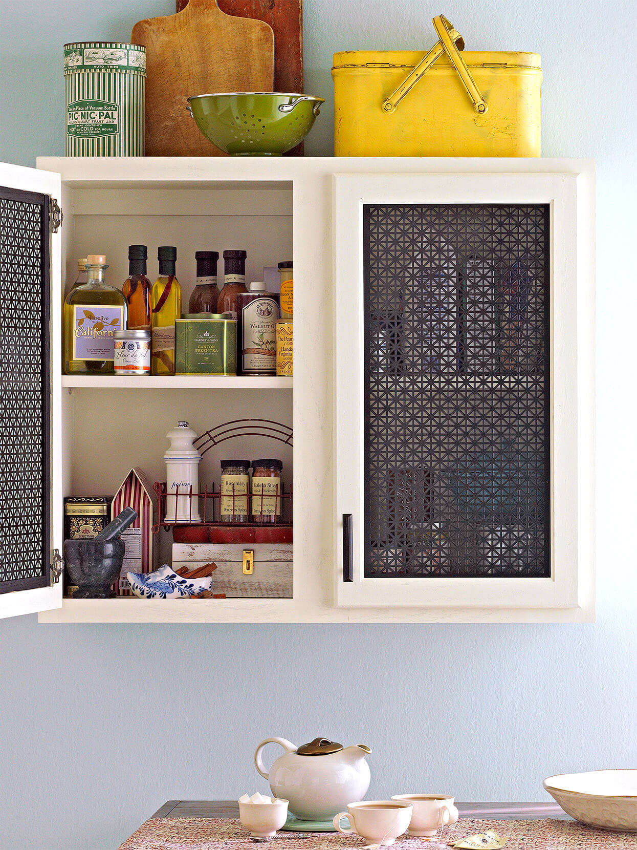 COOL METAL SHEET FOR WOOD CABINET MAKEOVER IDEAS