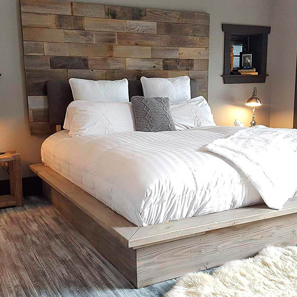 REPURPOSED WOOD FURNITURE ACCENT WALL