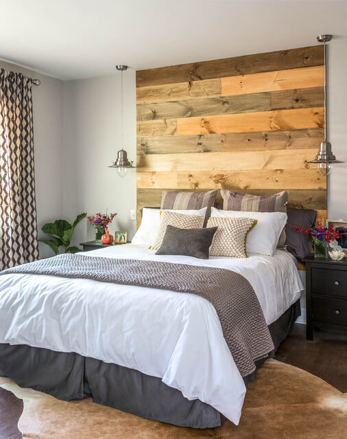 REPURPOSED WOODEN FOCAL POINT FOR BEDROOM
