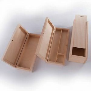 WOODEN PENCIL CASE BOX HOLDER DESKTOP STATIONERY ORGANIZER DIY PROJECTS FOR KIDS