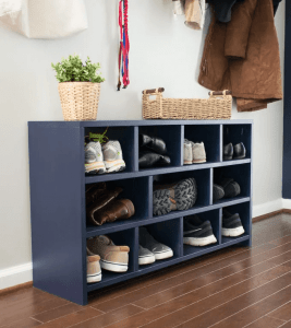 DIY SHOE CUBBY WOODWORKING IDEAS FURNITURE
