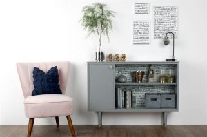 MINIMALIST DECORATION WITH REAL WOOD CABINET FURNITURE