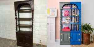 TRANSFORM LARGE REAL WOOD HUTCH TO A NEW LOOK IN TIME INEXPENSIVE