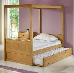 WOOD BEDROOM FURNITURE WITH EXTRA BED