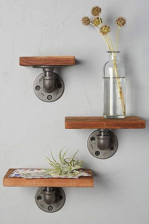 WOOD SHELF IDEAS FOR BEDROOM DECORATION