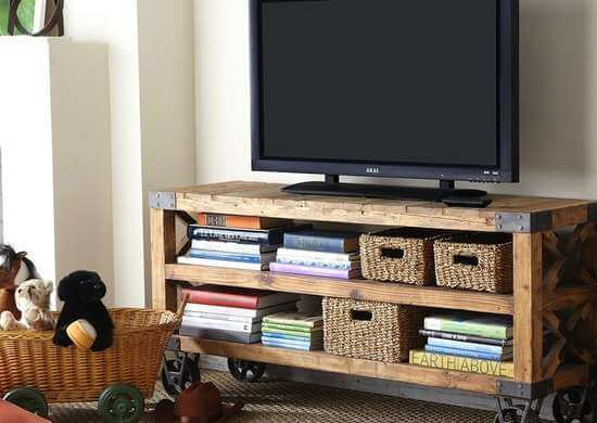 WOOD STORAGE DIY ENTERTAINMENT CENTER FOR BEDROOM FURNITURE