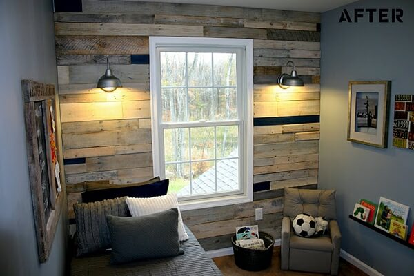 WOODEN WALL PALLET FOR BEDROOM